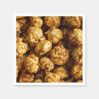 Caramel Popcorn Paper Napkin