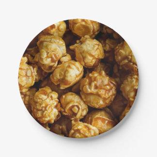 Caramel Popcorn Paper Plate
