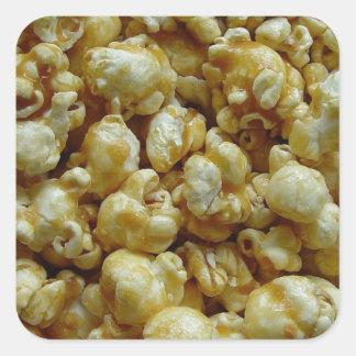 Caramel Popcorn Square Sticker