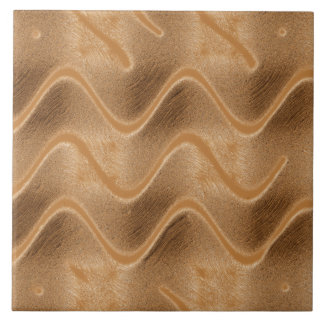 Caramel Swirl Abstract Tile