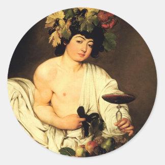Caravaggio Bacchus Stickers