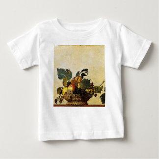 Caravaggio - Basket of Fruit - Classic Artwork Baby T-Shirt