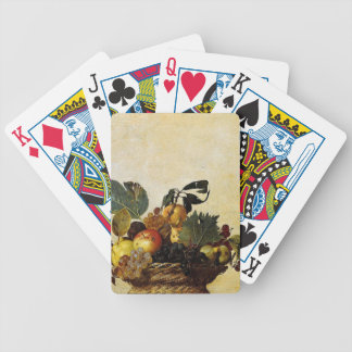 Caravaggio - Basket of Fruit - Classic Artwork Bicycle Playing Cards
