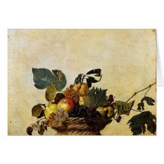 Caravaggio - Basket of Fruit - Classic Artwork Card