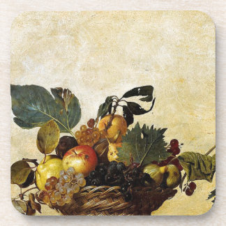 Caravaggio - Basket of Fruit - Classic Artwork Coaster