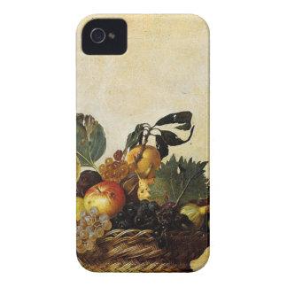 Caravaggio - Basket of Fruit - Classic Artwork iPhone 4 Covers