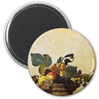 Caravaggio - Basket of Fruit - Classic Artwork Magnet