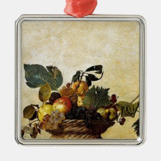 Caravaggio - Basket of Fruit - Classic Artwork Metal Ornament