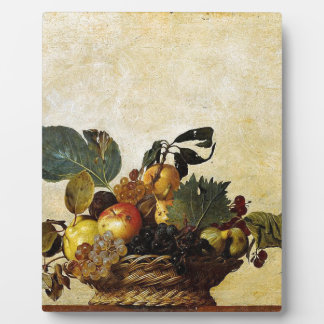 Caravaggio - Basket of Fruit - Classic Artwork Plaque