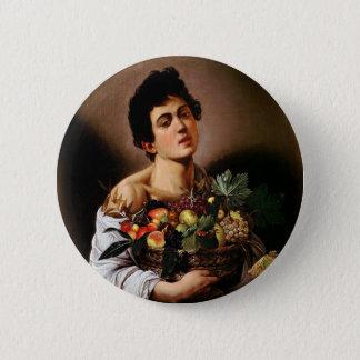 Caravaggio - Boy with a Basket of Fruit Artwork 6 Cm Round Badge