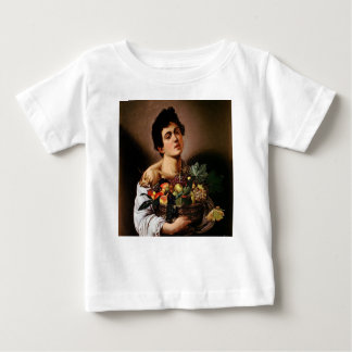 Caravaggio - Boy with a Basket of Fruit Artwork Baby T-Shirt
