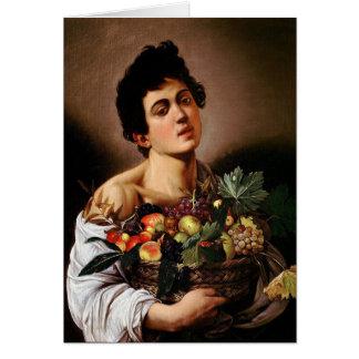 Caravaggio - Boy with a Basket of Fruit Artwork Card