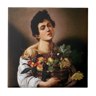 Caravaggio - Boy with a Basket of Fruit Artwork Ceramic Tile