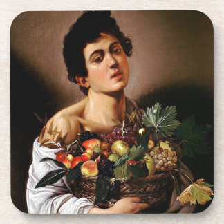 Caravaggio - Boy with a Basket of Fruit Artwork Coaster