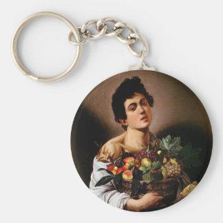 Caravaggio - Boy with a Basket of Fruit Artwork Key Ring
