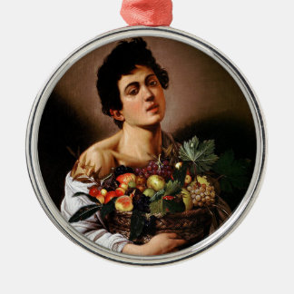 Caravaggio - Boy with a Basket of Fruit Artwork Metal Ornament