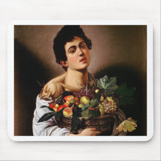 Caravaggio - Boy with a Basket of Fruit Artwork Mouse Pad