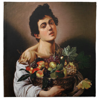 Caravaggio - Boy with a Basket of Fruit Artwork Napkin