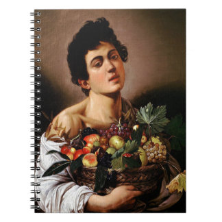Caravaggio - Boy with a Basket of Fruit Artwork Notebook