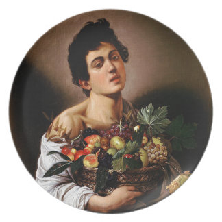 Caravaggio - Boy with a Basket of Fruit Artwork Plate