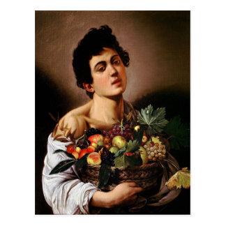 Caravaggio - Boy with a Basket of Fruit Artwork Postcard