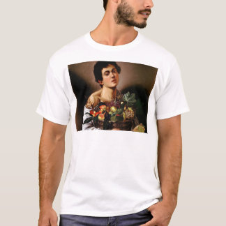 Caravaggio - Boy with a Basket of Fruit Artwork T-Shirt