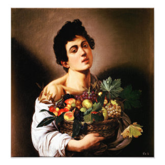 Caravaggio Boy With a Basket of Fruit Photograph