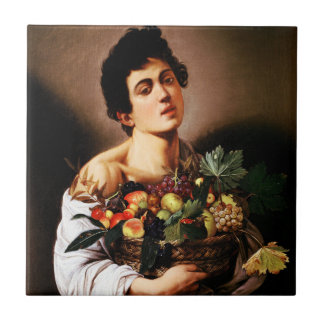 Caravaggio Boy With a Basket of Fruit Tile