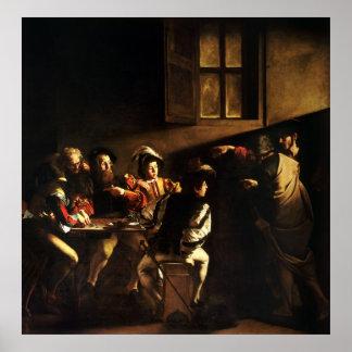 Caravaggio Calling of Saint Matthew Poster