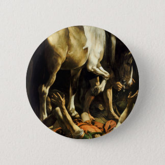 Caravaggio - Conversion on the Way to Damascus 6 Cm Round Badge