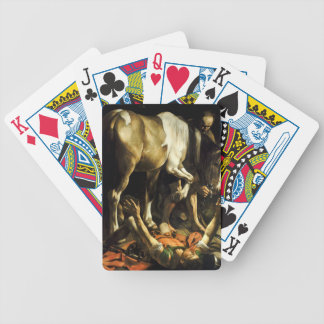 Caravaggio - Conversion on the Way to Damascus Bicycle Playing Cards