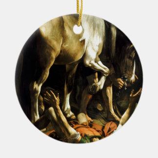 Caravaggio - Conversion on the Way to Damascus Ceramic Ornament