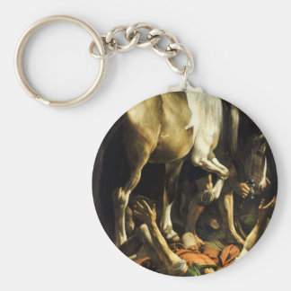 Caravaggio - Conversion on the Way to Damascus Key Ring
