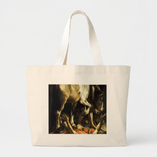 Caravaggio - Conversion on the Way to Damascus Large Tote Bag