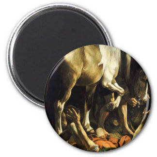 Caravaggio - Conversion on the Way to Damascus Magnet