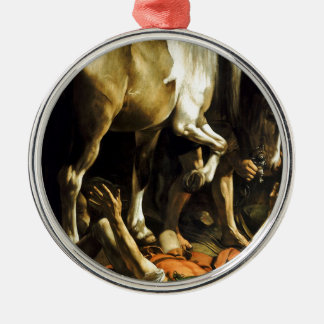 Caravaggio - Conversion on the Way to Damascus Metal Ornament