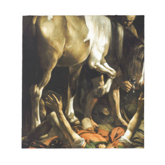 Caravaggio - Conversion on the Way to Damascus Notepad