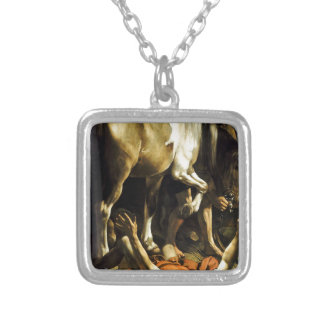 Caravaggio - Conversion on the Way to Damascus Silver Plated Necklace