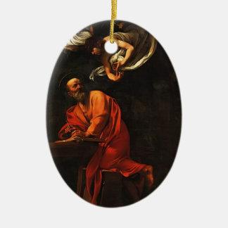 Caravaggio- Inspiration of Saint Matthew Christmas Tree Ornaments
