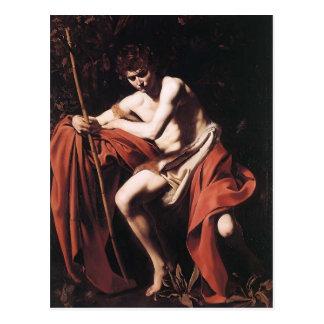 Caravaggio- John the Baptist Postcard