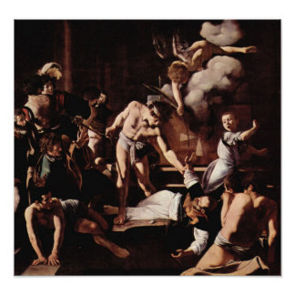 Caravaggio-Martyrdom of St. Matthew Poster