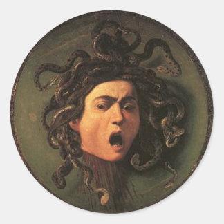 Caravaggio - Medusa - Classic Italian Artwork Classic Round Sticker