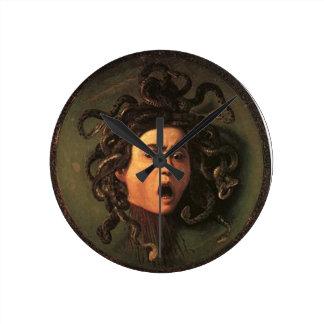 Caravaggio - Medusa - Classic Italian Artwork Round Clock