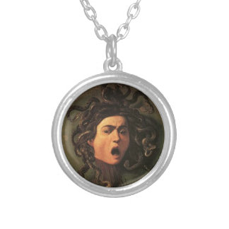 Caravaggio - Medusa - Classic Italian Artwork Silver Plated Necklace