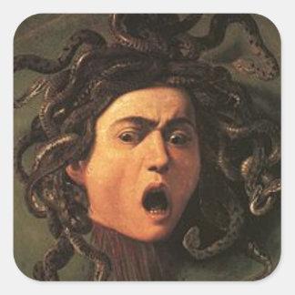 Caravaggio - Medusa - Classic Italian Artwork Square Sticker