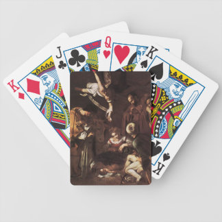 Caravaggio -Nativity with St Francis & St Lawrence Bicycle Playing Cards