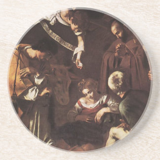 Caravaggio -Nativity with St Francis & St Lawrence Coaster