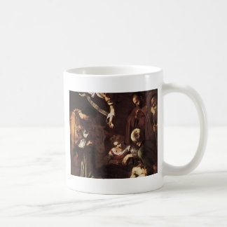 Caravaggio -Nativity with St Francis & St Lawrence Coffee Mug