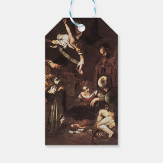 Caravaggio -Nativity with St Francis & St Lawrence Gift Tags