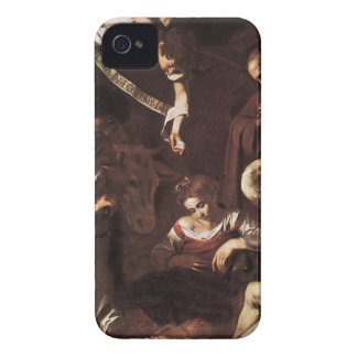 Caravaggio -Nativity with St Francis & St Lawrence iPhone 4 Cover